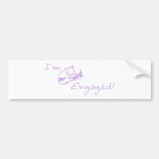 I'm Engaged (Purple Diamond Ring) Bumper Stickers