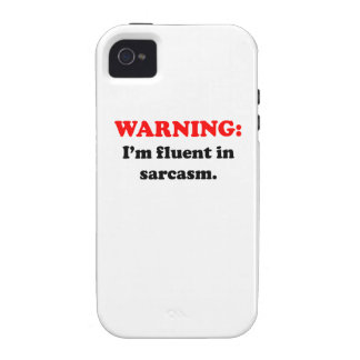 I'm Fluent In Sarcasm Vibe iPhone 4 Covers