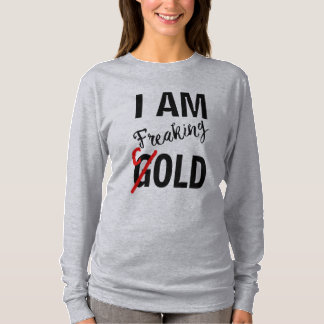 i'm freaking gold typo cold funny t-shirt design