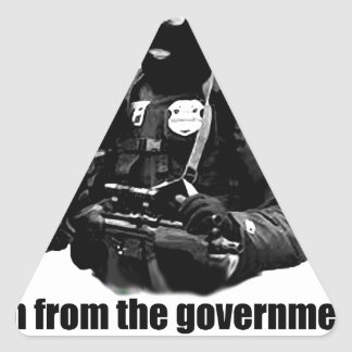 I'm from the government, I'm here to help you. Triangle Sticker