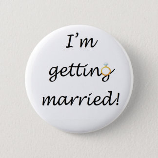'I'm getting married!' Standard Badge