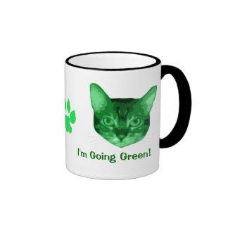 Im Going Green Kitty Coffee Mugs