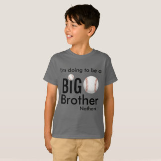 I'm going to be a Big Brother Cousin Baseball T-Shirt