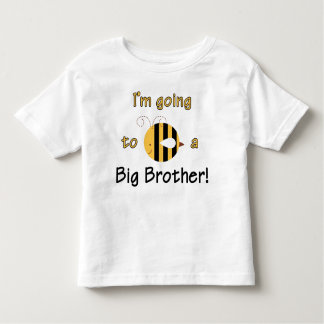 I'm going to be a Big Brother - Cute Bee Design Toddler T-Shirt