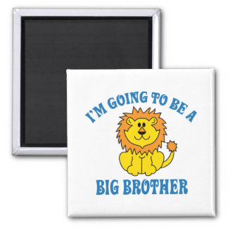 I'm Going To Be A Big Brother Square Magnet