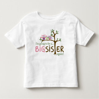 I'm going to be a BIG SISTER AGAIN! Toddler T-Shirt