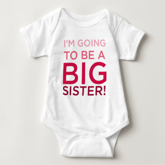 I'm Going to be a Big Sister Baby Bodysuit