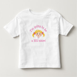 Im going to be a big sister - blond hair toddler T-Shirt