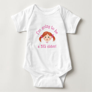 Im going to be a big sister - red hair baby bodysuit
