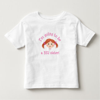 Im going to be a big sister - red hair t-shirts