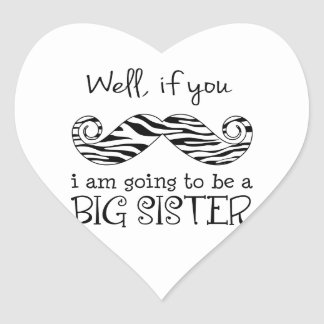 I'm Going to be a Big Sister Heart Stickers