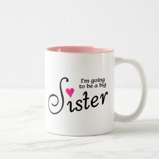 Im Going To Be A Big Sister Two-Tone Coffee Mug