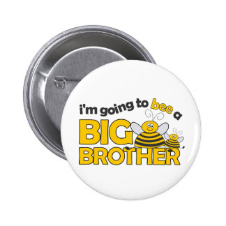 I'm Going to BEE a Big Brother T-shirt 6 Cm Round Badge