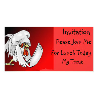 I'm Gonna Have Me Some Beef! - Designer Invitation Photo Greeting Card