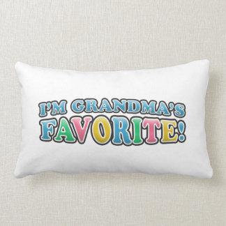 I'm Grandma's Favorite Boys Throw Pillow