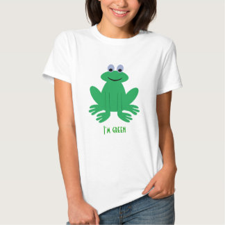 I'm Green Cute Frog Shirts