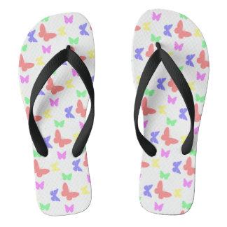 I'm Happy! butterfly Flip Flops