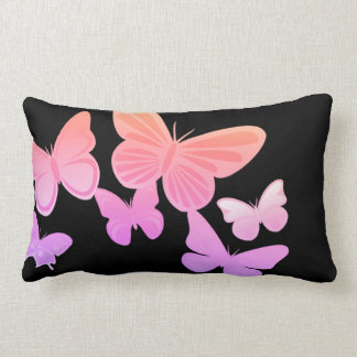 I'm Happy! mono butterfly Throw Pillow