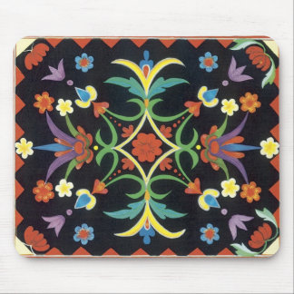 I'm Happy - Vintage Textile Mouse Pad