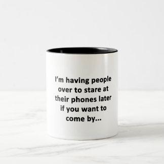 I'm Having People Over Two-Tone Coffee Mug