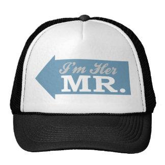 I'm Her Mr. (Blue Arrow) Trucker Hats