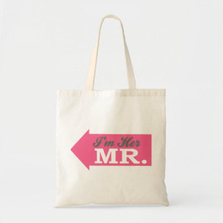 I'm Her Mr. (Hot Pink Arrow) Tote Bags