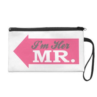 I'm Her Mr. (Hot Pink Arrow) Wristlet Purses