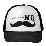 I'm Her Mr. Moustache Grooms Gifts Trucker Hats