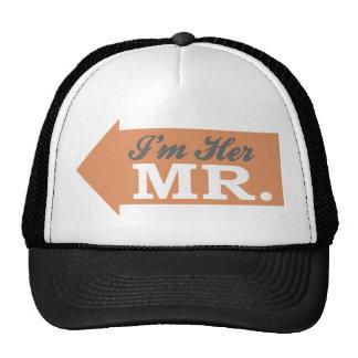 I'm Her Mr. (Orange Arrow) Mesh Hats