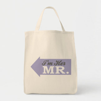 I'm Her Mr. (Violet Arrow) Tote Bags