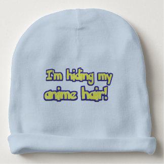 I'm hiding my anime hair, funny baby beanie