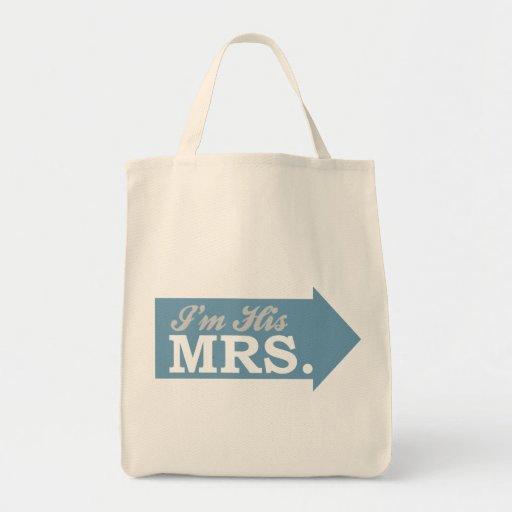 I'm His Mrs. (Blue Arrow) Tote Bag