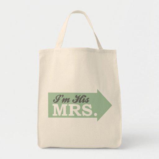 I'm His Mrs. (Green Arrow) Canvas Bag