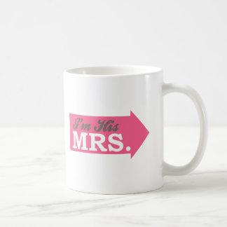 I'm His Mrs. (Hot Pink Arrow) Mug