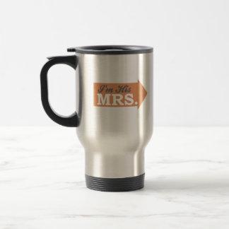 I'm His Mrs. (Orange Arrow) Coffee Mugs