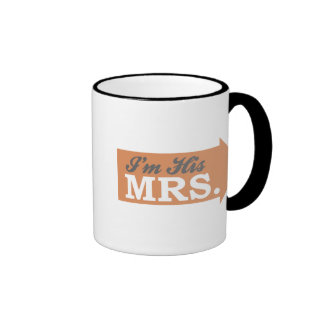 I'm His Mrs. (Orange Arrow) Mug