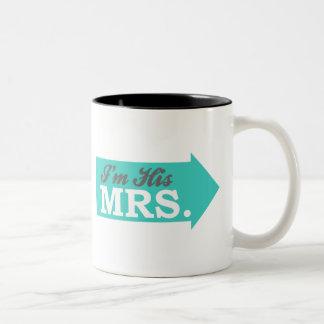 I'm His Mrs. (Teal Arrow) Mugs