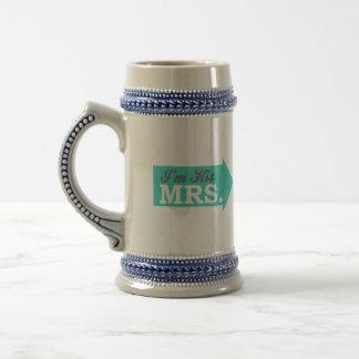 I'm His Mrs. (Teal Arrow) Coffee Mug