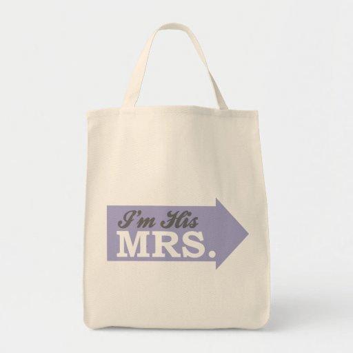 I'm His Mrs. (Violet Purple Arrow) Bags