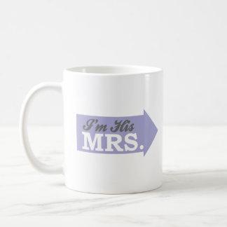 I'm His Mrs. (Violet Purple Arrow) Coffee Mug