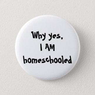 I'm homeschooled button
