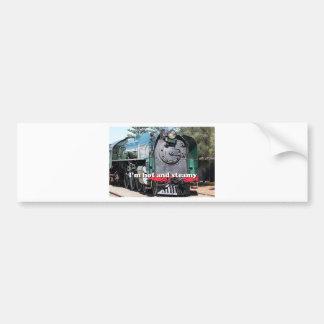 I'm hot and steamy: steam locomotive, Australia Bumper Sticker