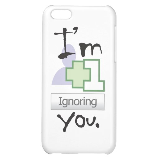 I'm Ignoring You iPhone 4 icase Case For iPhone 5C