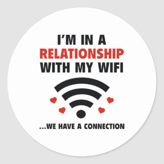 I'm In A Relationship Round Sticker