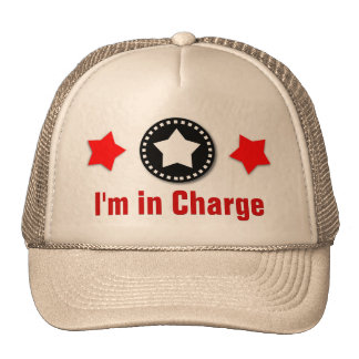 I'M IN CHARGE Template Modern Design V4 RED TAN Cap