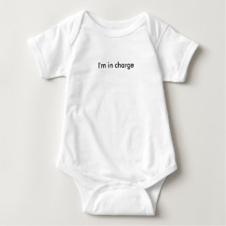 I'm In Charge Text Baby Bodysuit
