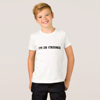 I'm In Charge Text T-Shirt