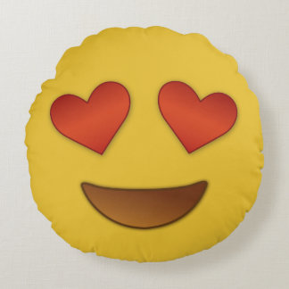 I'm in like with you emoji round cushion