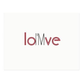 I'm in love--rebus puzzle card