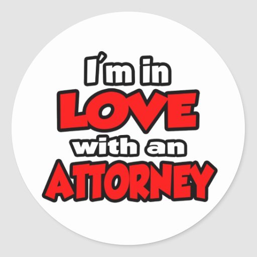I'm In Love With An Attorney Stickers